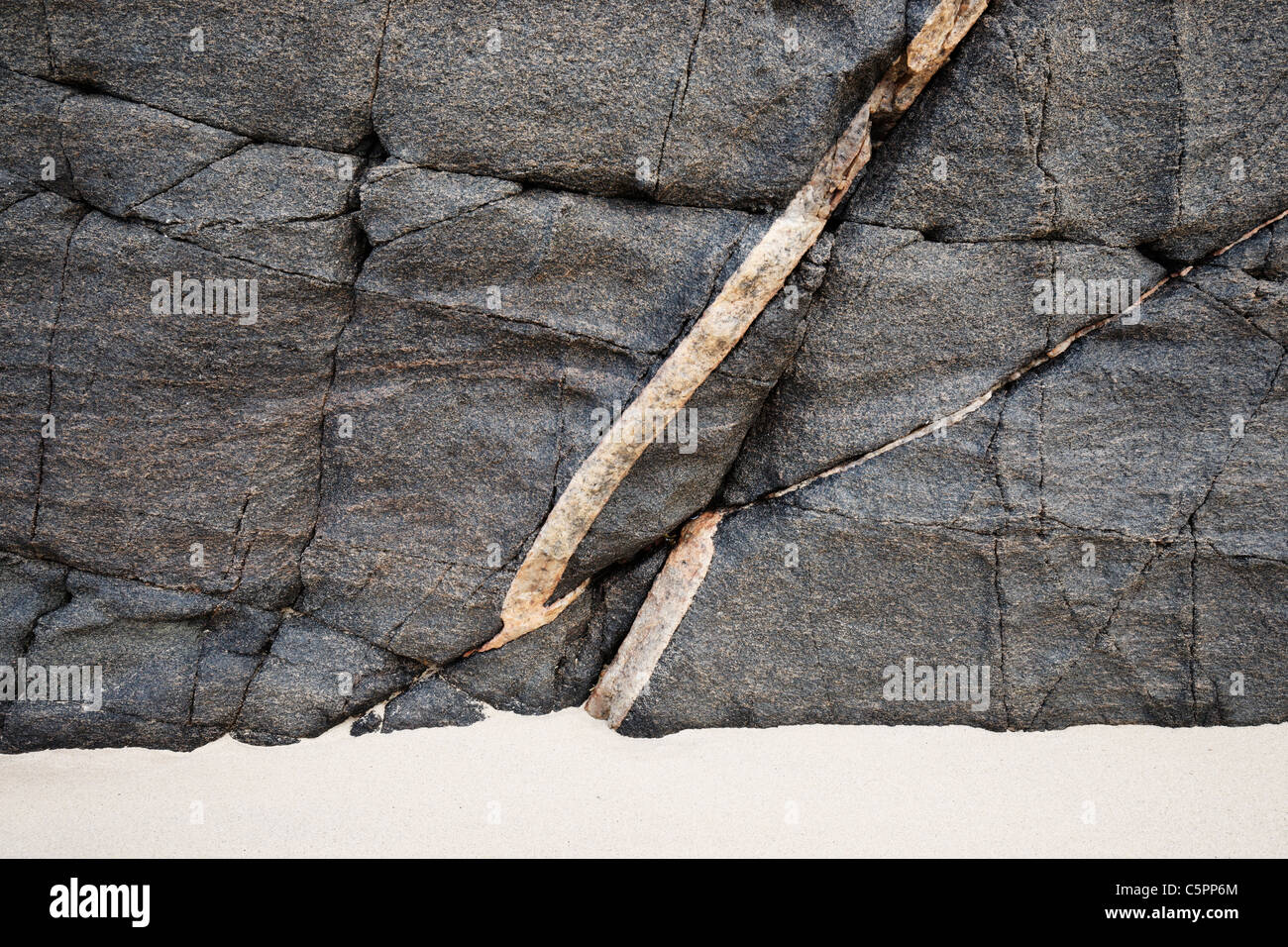 Rock patterns at Oldshoremore beach, Sutherland, Highland, Scotland, UK - Stock Image
