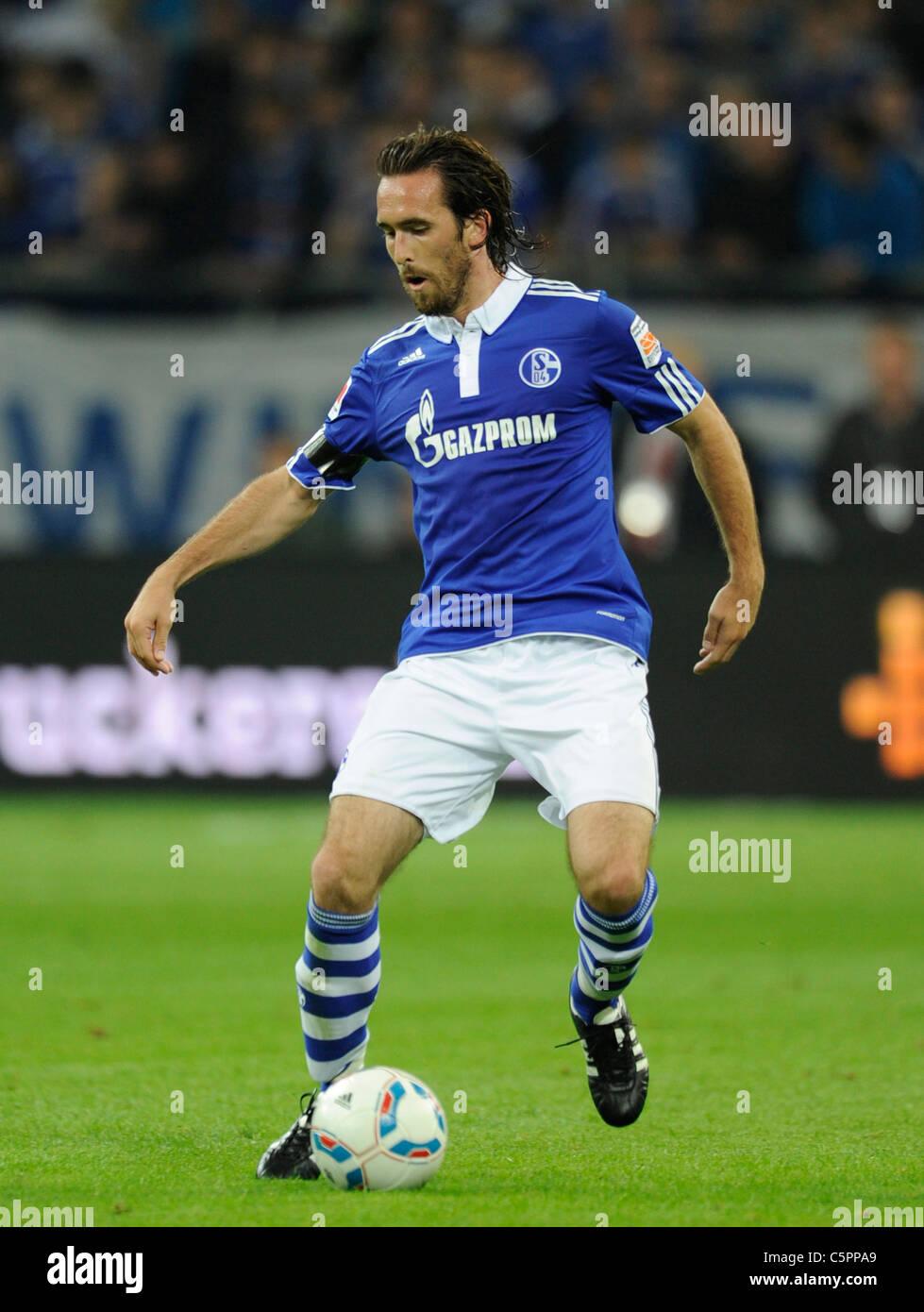 Christian Fuchs (S04), Schalke 04 - Stock Image
