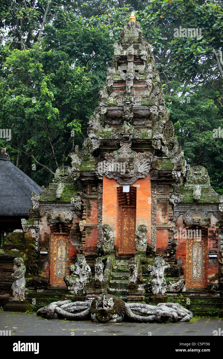 Temple of the Dead, Sacred Monkey Forest Sanctuary, Ubud, Bali, Indonesia - Stock Image