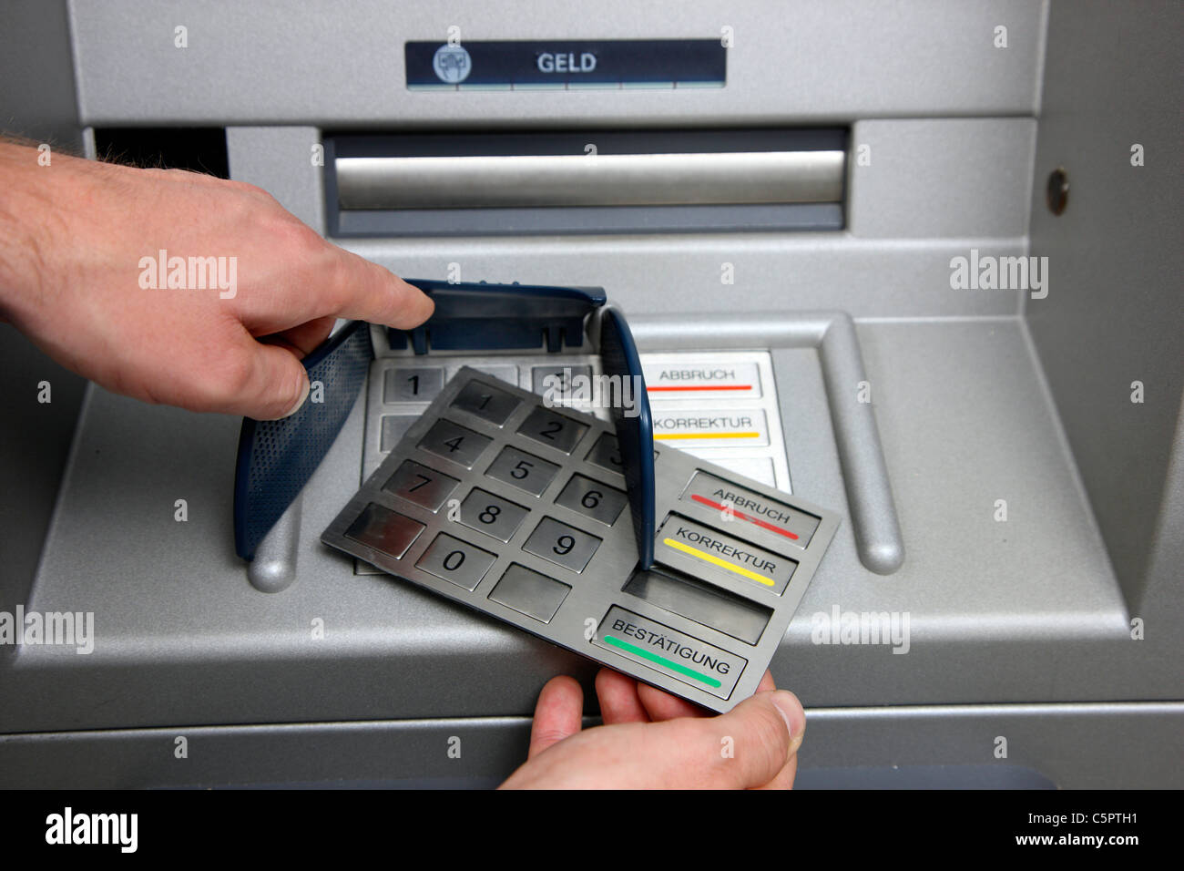 Skimming Devices For Manipulation A Cash Machine Atm