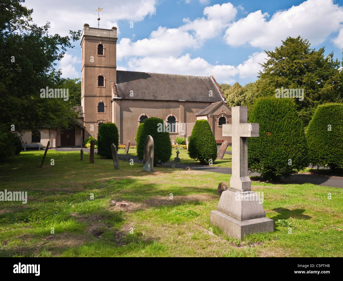 The church of St. Michael and All Saints in the village of Himley on the South Staffordshire & West Midlands - Stock Image
