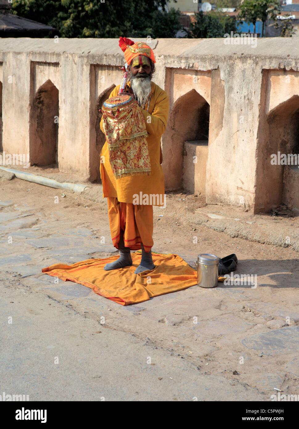 Hinduist, Orchha, Madhya Pradesh state, India - Stock Image