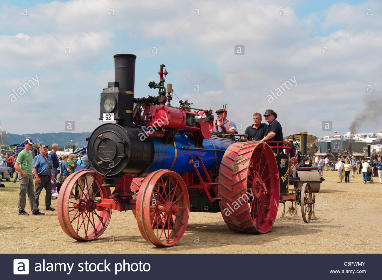 Advance 20NHP single direct ploughing engine 1906, at Welland Steam Rally 2011, England, UK. - Stock Image
