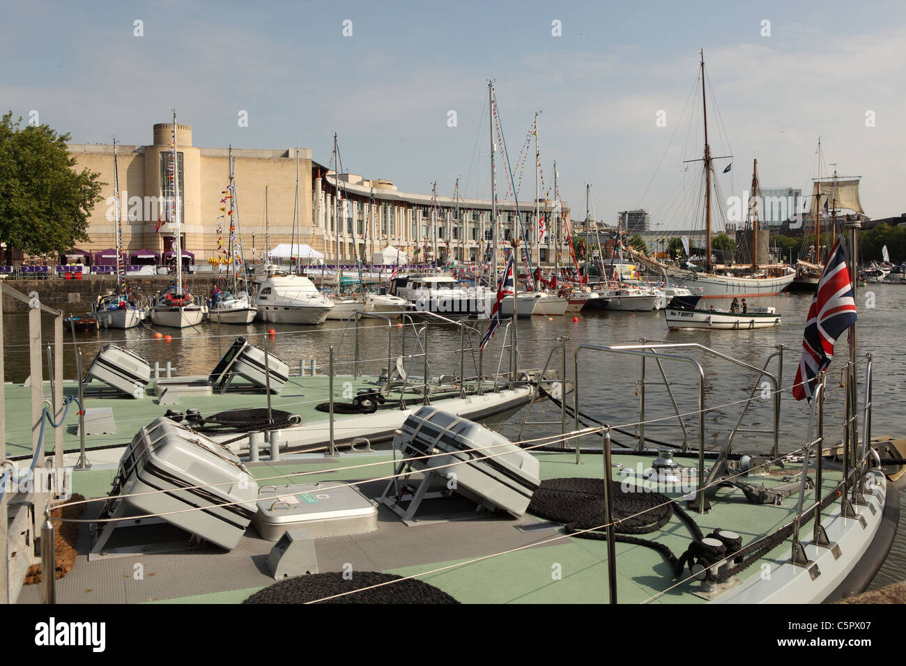 View of Bristol Harbour - Stock Image