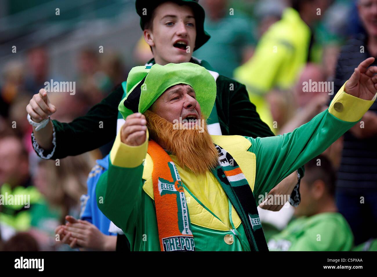 31.07.2011 - Fans enjoying the match, Dublin Super Cup 2011 in the Aviva Stadium Dublin (Celtic vs Airtricity XI) - Stock Image