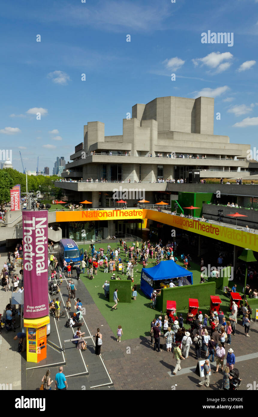 The National Theatre on South Bank, London, England, Great Britain, UK - Stock Image