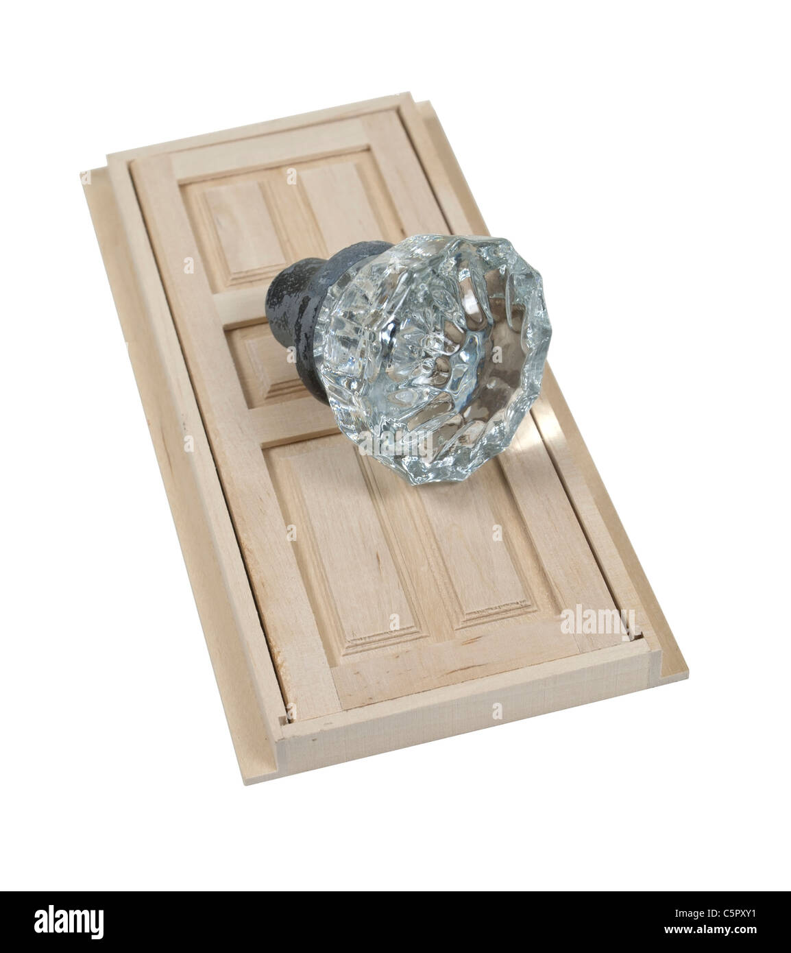 Antique Crystal Doorknob Used As An Interior Door Hardware With A Wooden  Door   Path Included