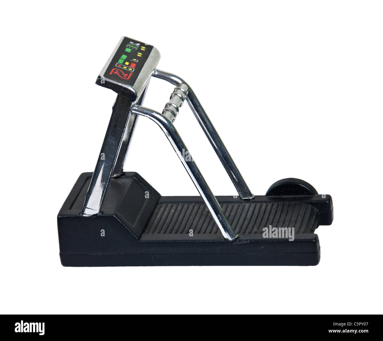 Exercise treadmill used for convenient indoor walking for health fitness - path included - Stock Image