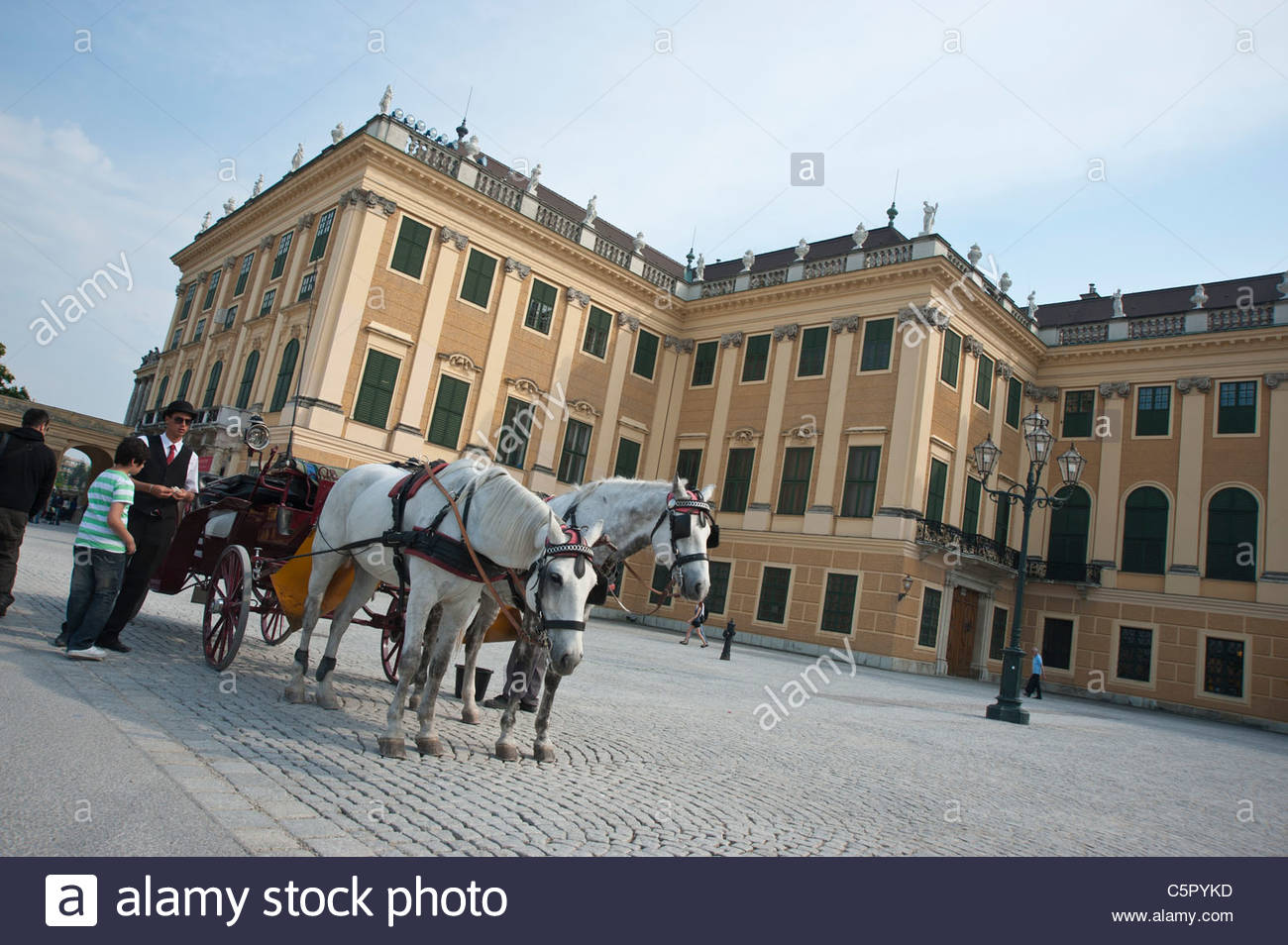 Wien, Schloss Schönbrunn - Stock Image