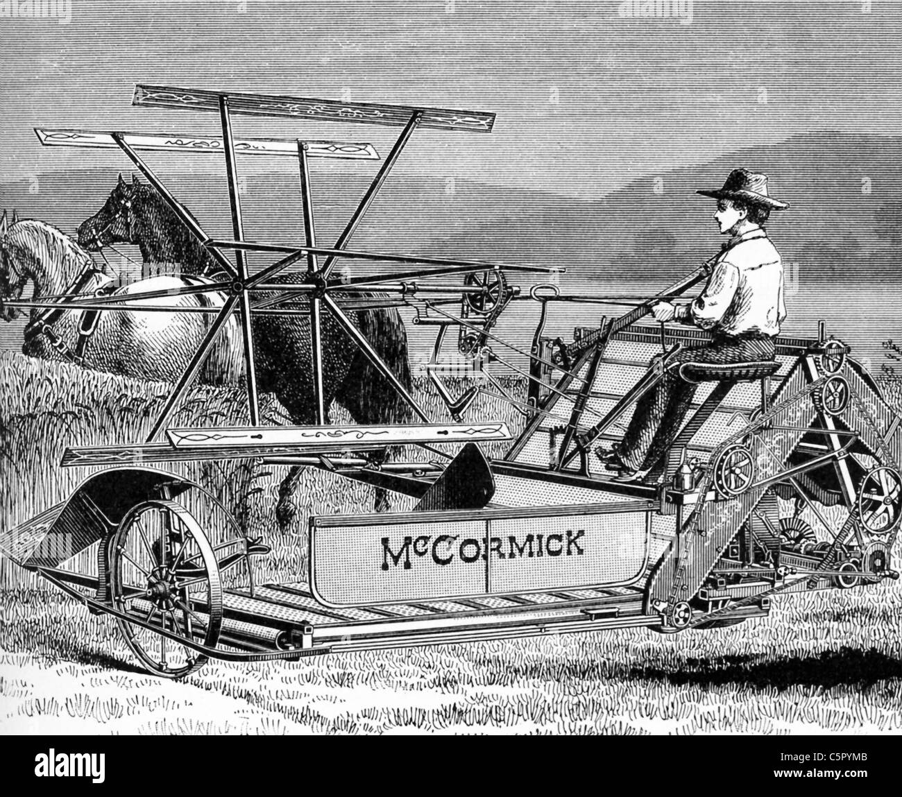 Cyrus McCormick of Virginia, founder of the McCormick Harvesting Machine Company,  was granted a patent for his - Stock Image