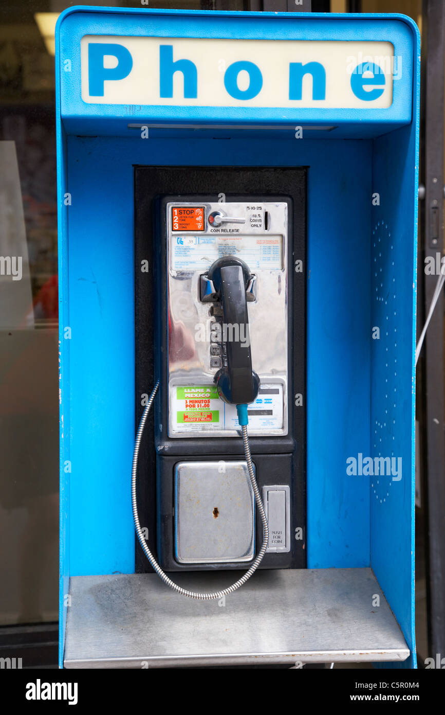 south central bell public payphone phone Nashville Tennessee USA - Stock Image