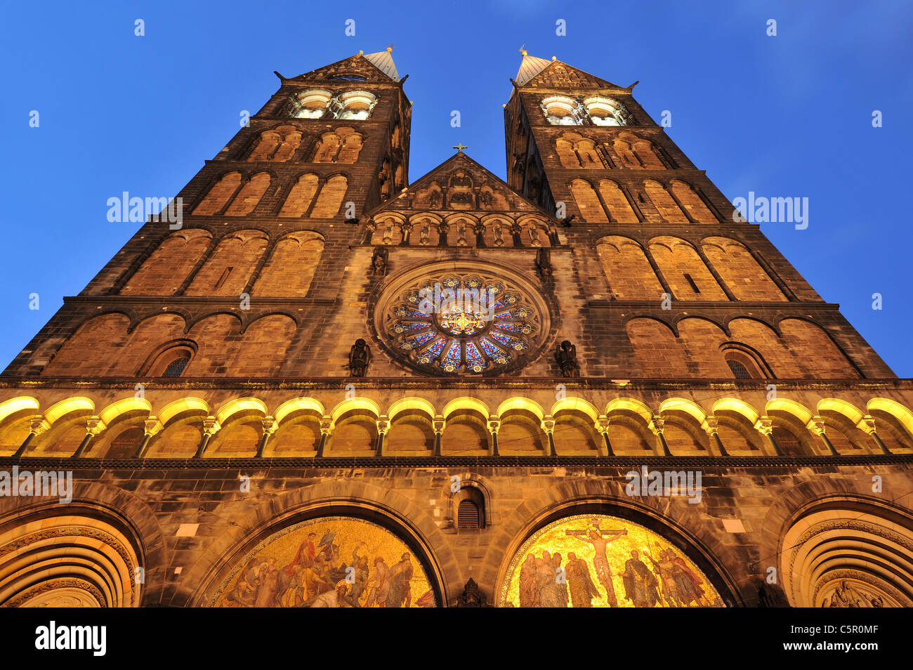 cathedral St. Petri in the old town of Bremen, Hansa, Germany, 2011 Stock Photo