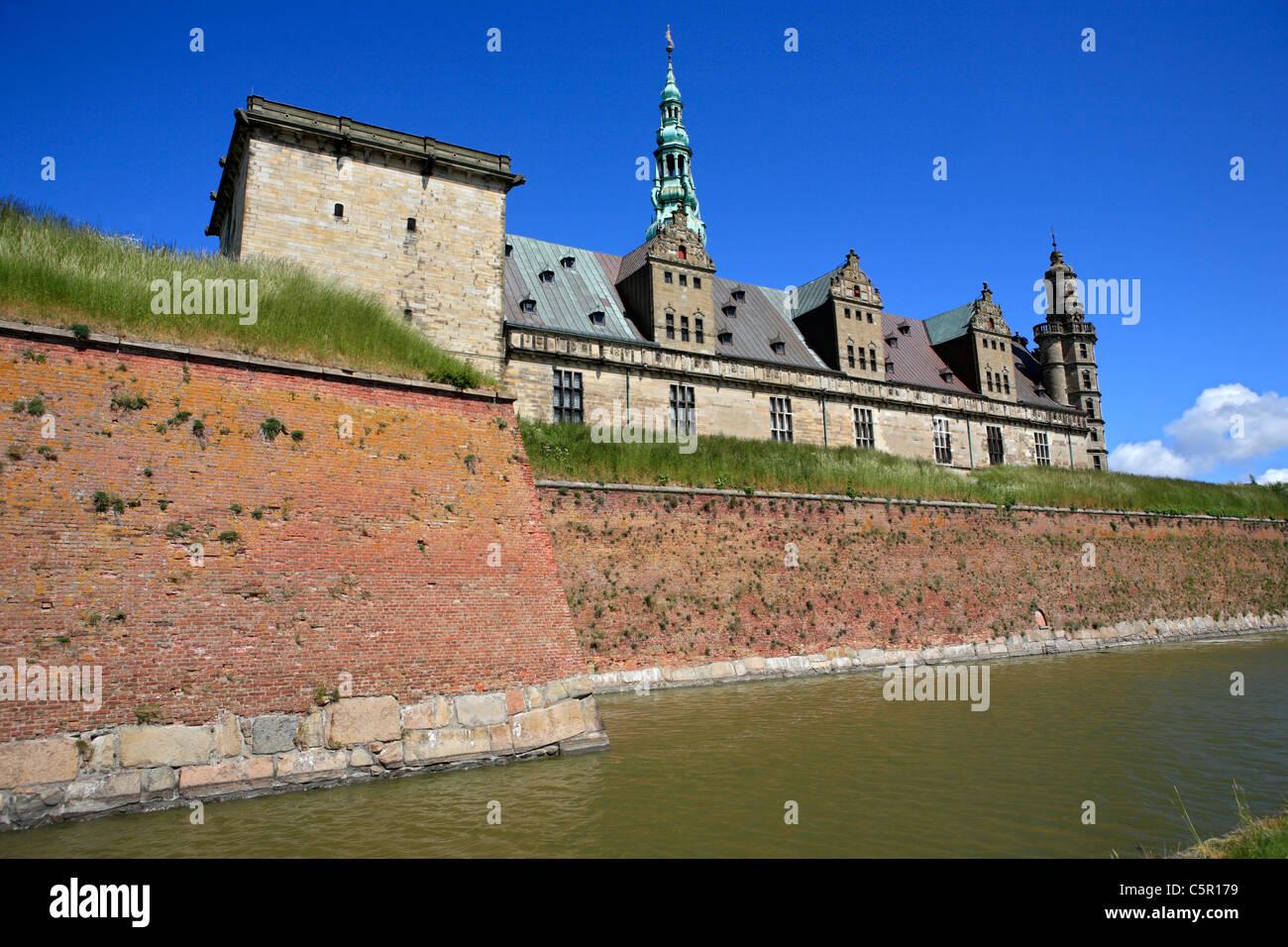 Kronborg palace (Hamlets Elsinore Castle), 1574-1585, Helsingor, Zealand, Denmark - Stock Image
