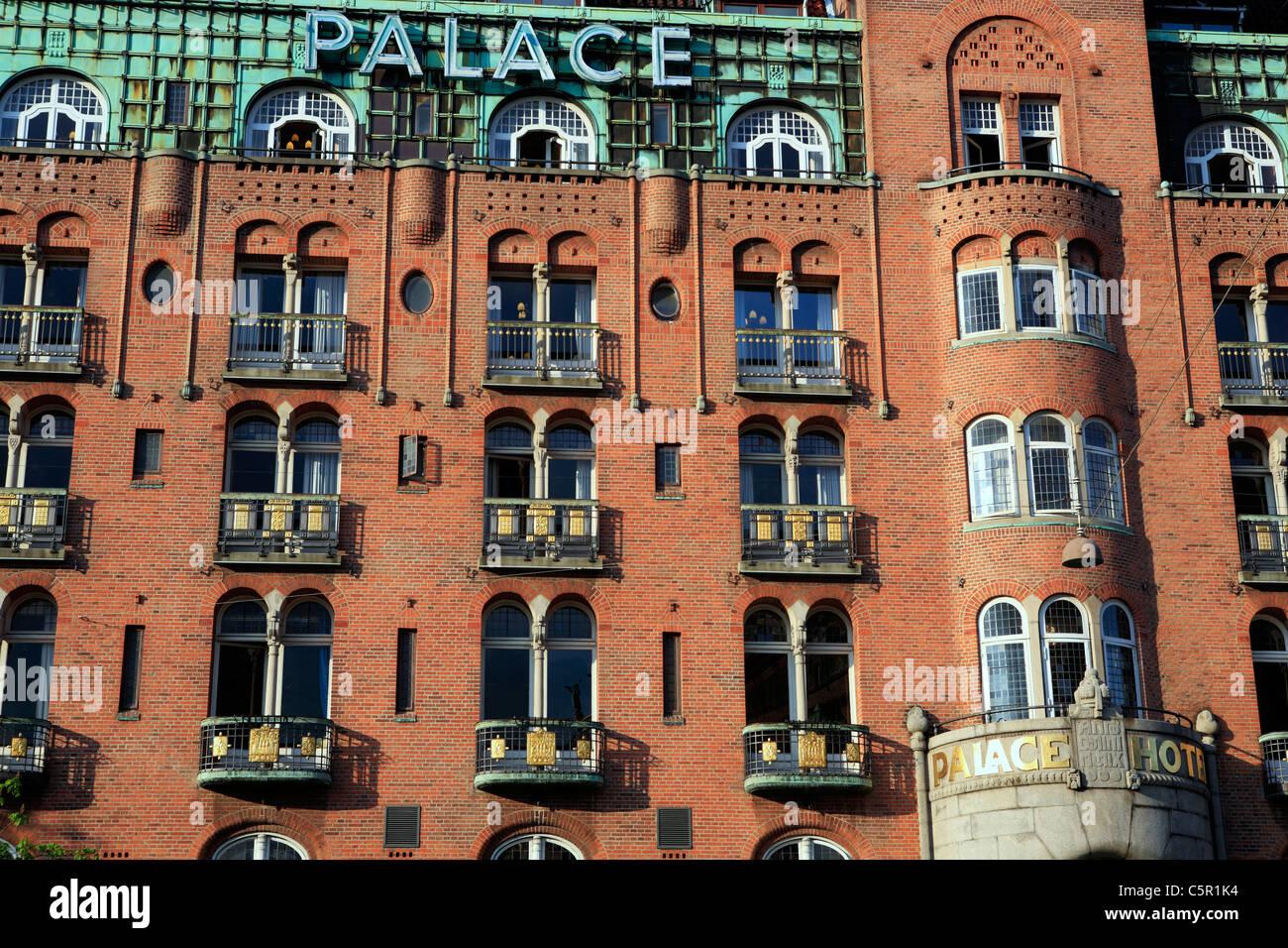 Palace Hotel (1906-1910, architect Anton Rosen), Copenhagen, Denmark - Stock Image
