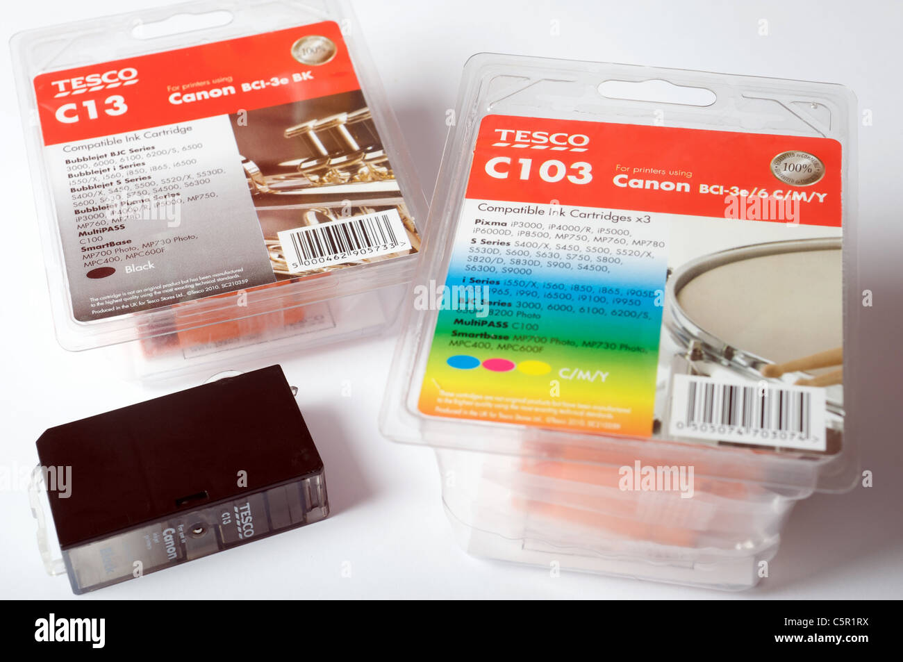 Tesco Canon compatible ink cartridge - Stock Image