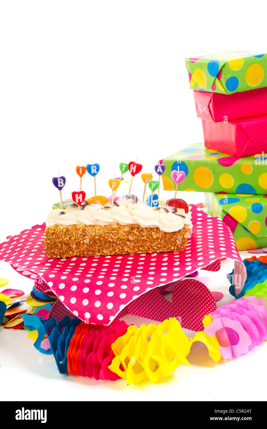 Happy Birthday Cake Card Wrapped Stock Photos Happy Birthday Cake