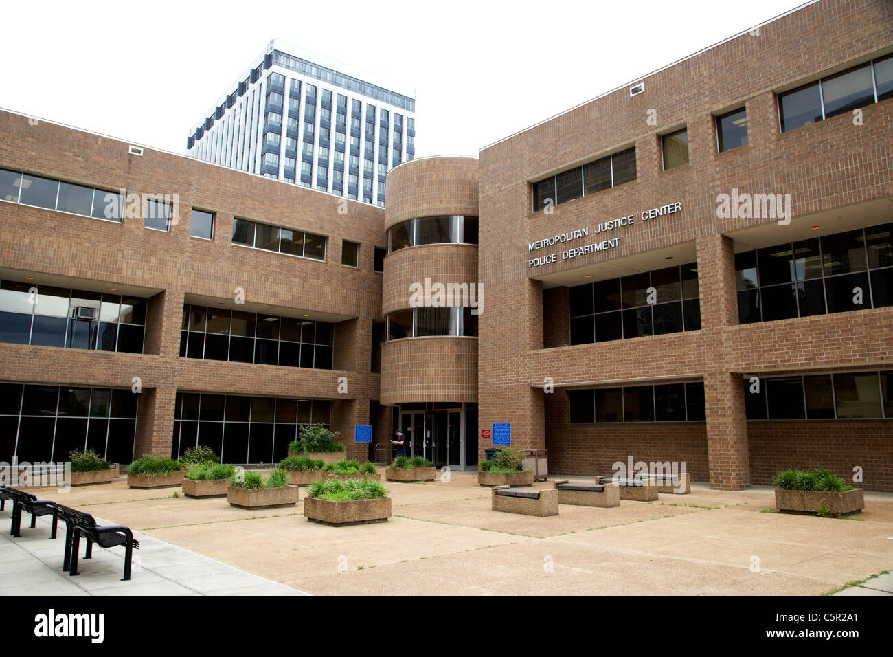 Metropolitan Justice Center and police station Nashville Tennessee USA - Stock Image