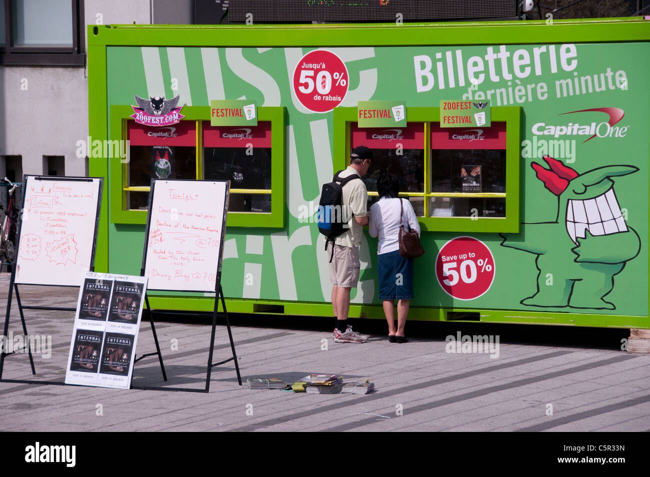 Ticketing office Just for Laughs Festival Montreal - Stock Image