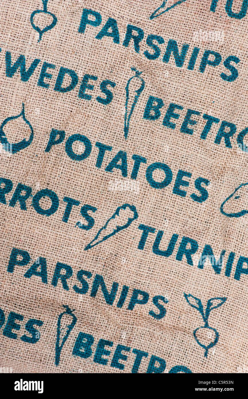 Hessian Vegetable sack pattern - Stock Image