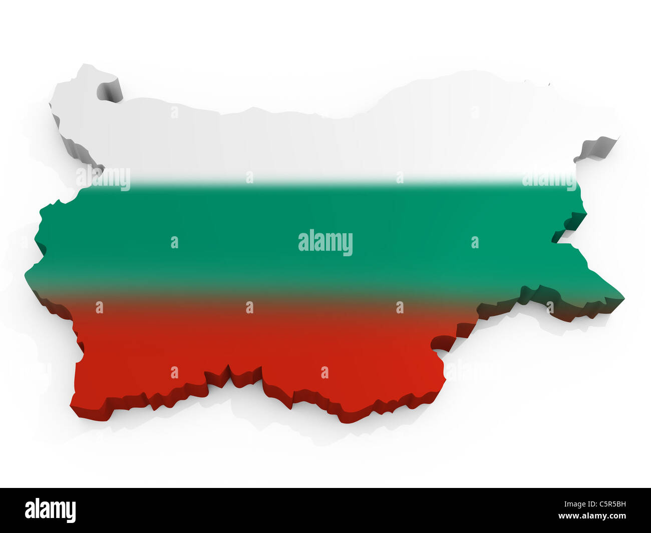 Map and Flag Republic of Bulgaria Stock Photo