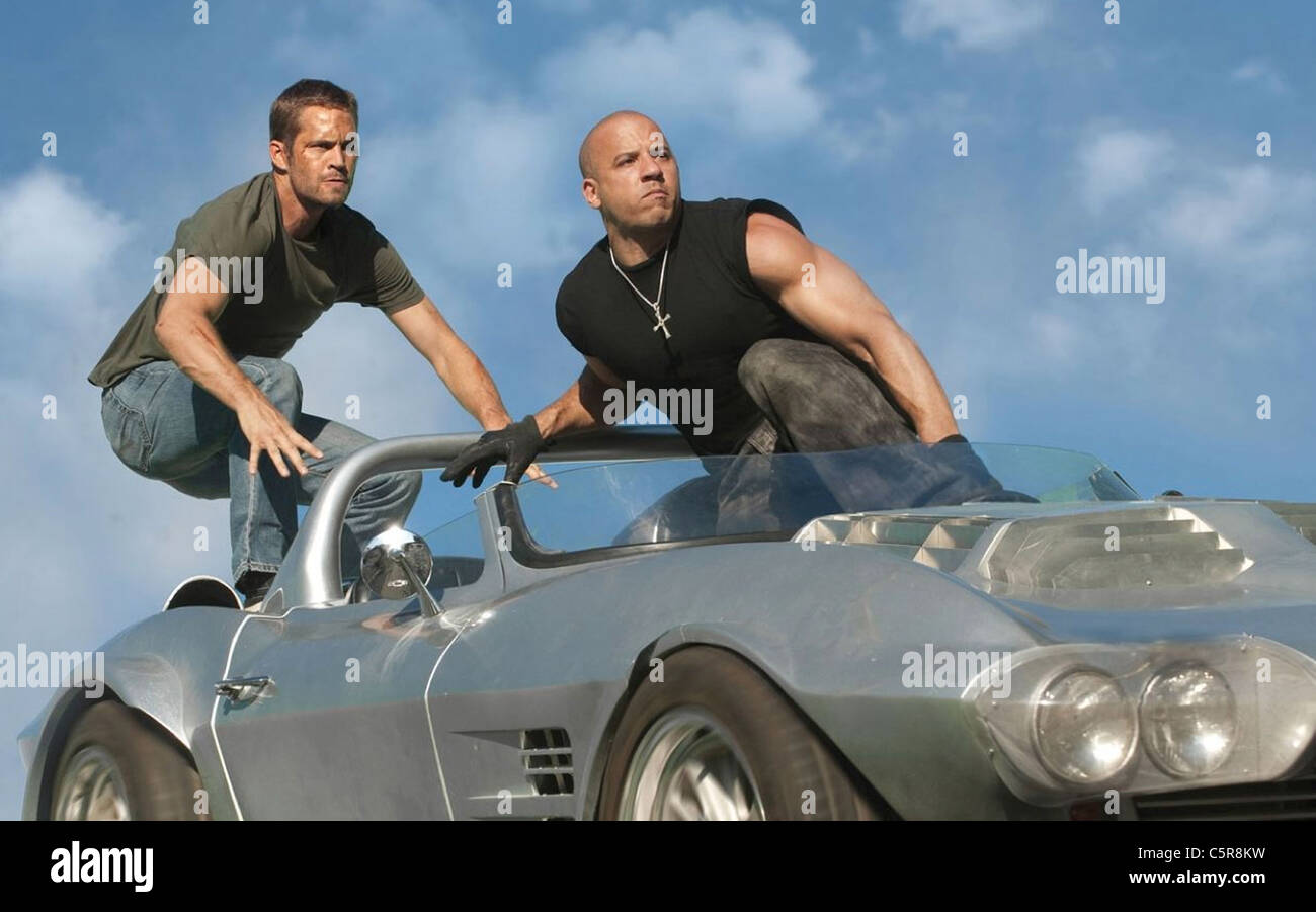 FAST FIVE  2011 Universal film with Vin Diesel at right and Paul  Walker Stock Photo