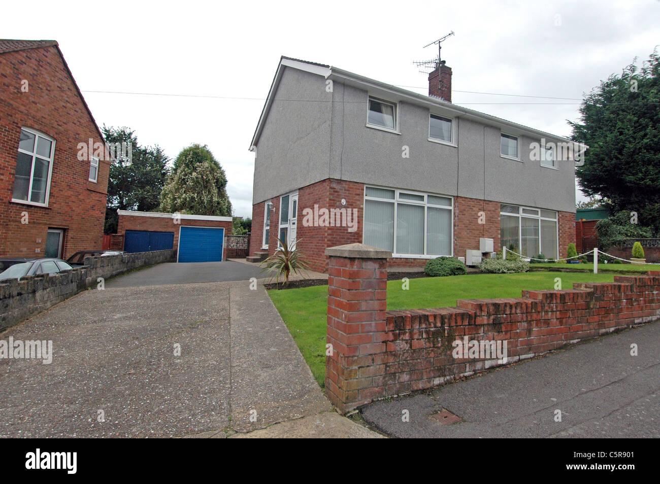 Catherine Zeta Jones's former home in the Treboeth district of Swansea. Stock Photo