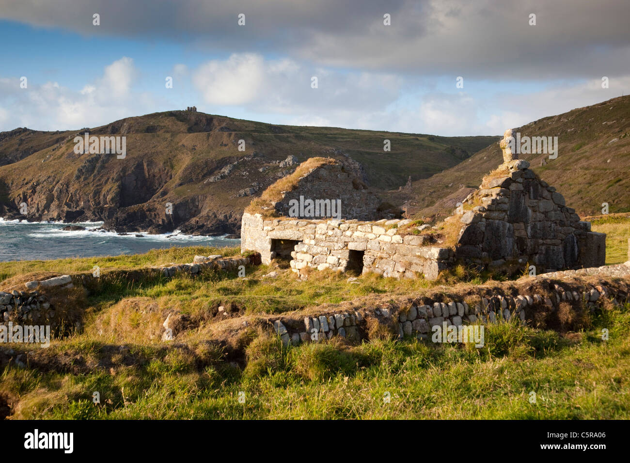 St Helen's Oratory; Cape Cornwall; UK - Stock Image