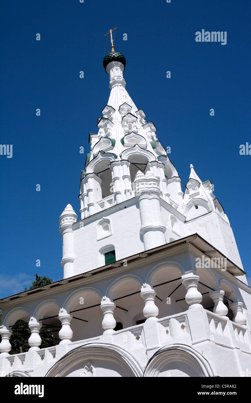 Nativity church bell tower, (1660s), Yaroslavl, Yaroslavl region, Russia Stock Photo