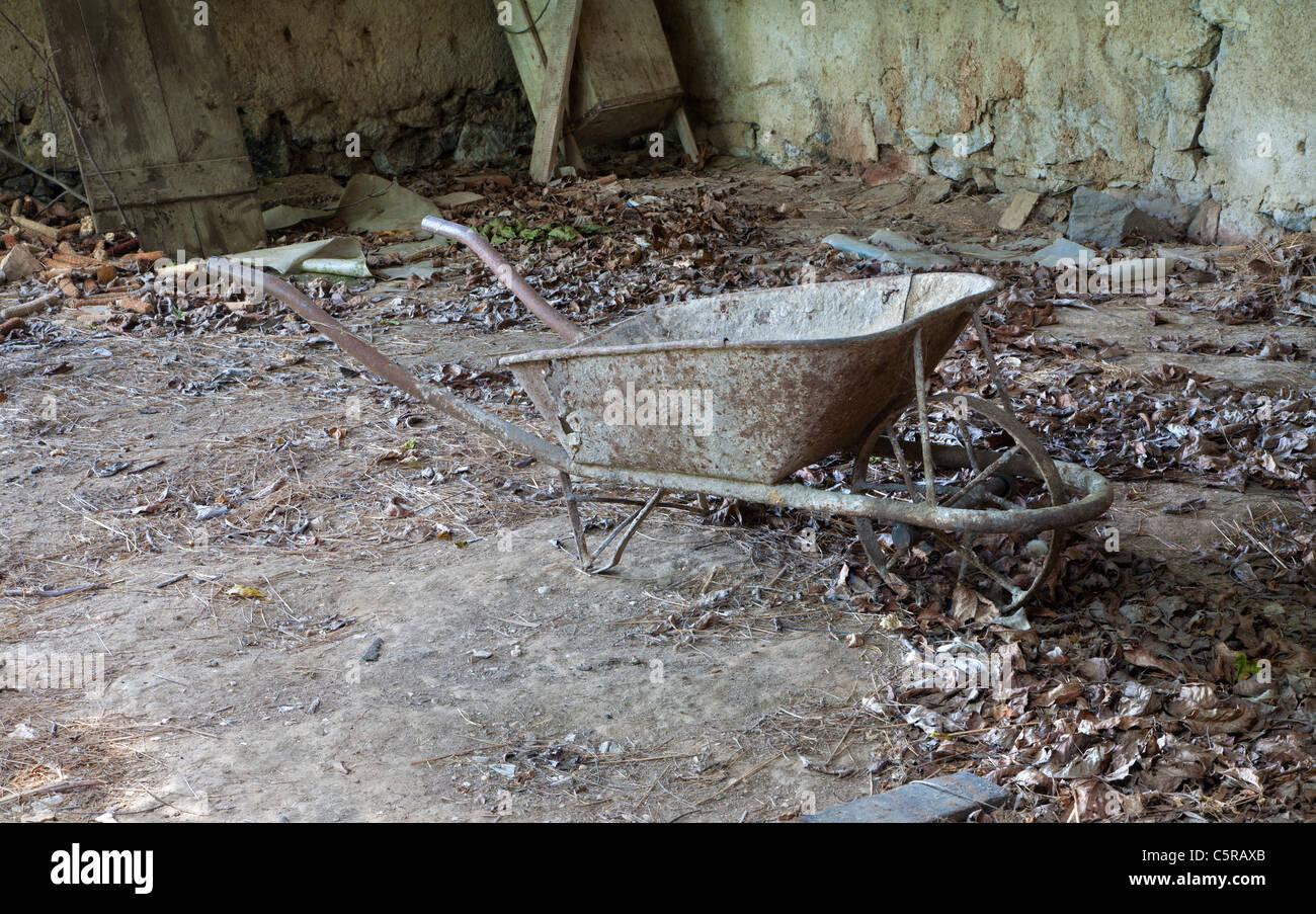 old wheelbarrow - Stock Image