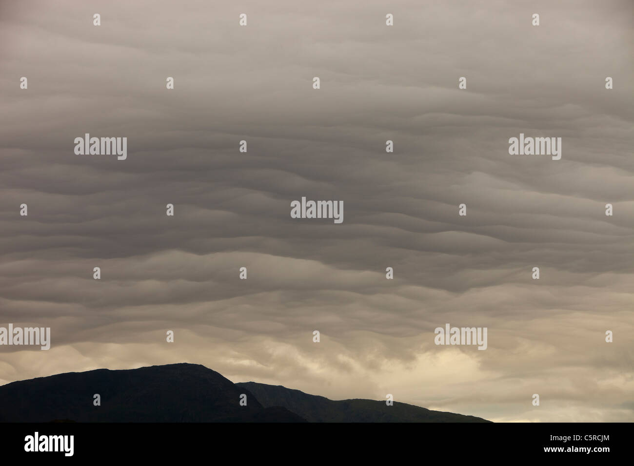 Storm clouds over Ambleside, Cumbria, UK. - Stock Image