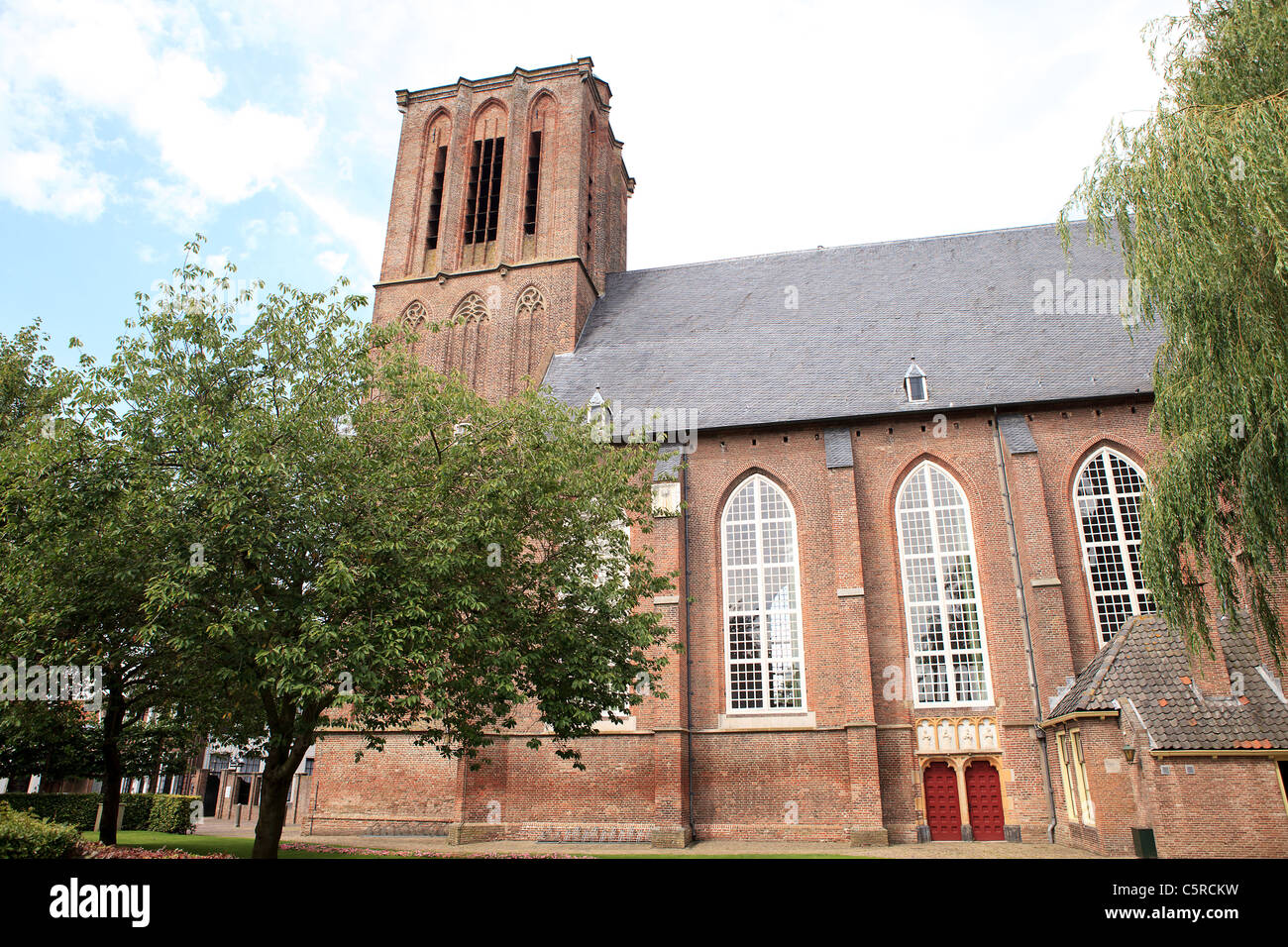 Church of Elburg in the Netherlands - Stock Image