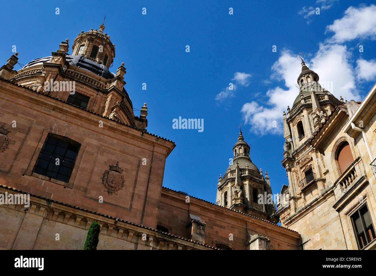 Europe, Spain, Castile and Leon, Salamanca, View of historic university - Stock Image