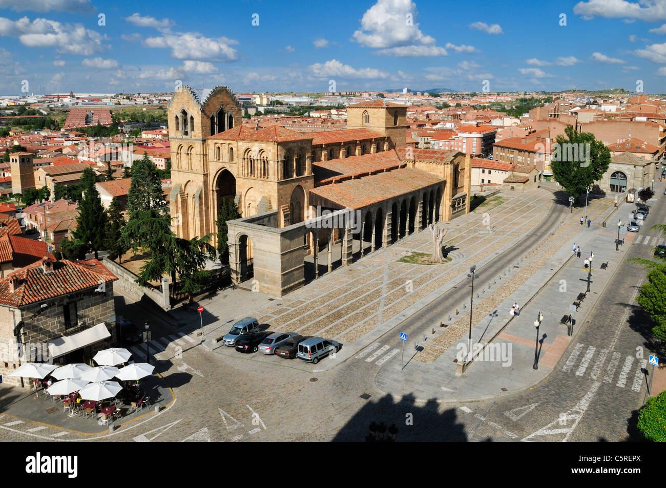 Europe, Spain, Castile and Leon, Avila, View of cityscape - Stock Image