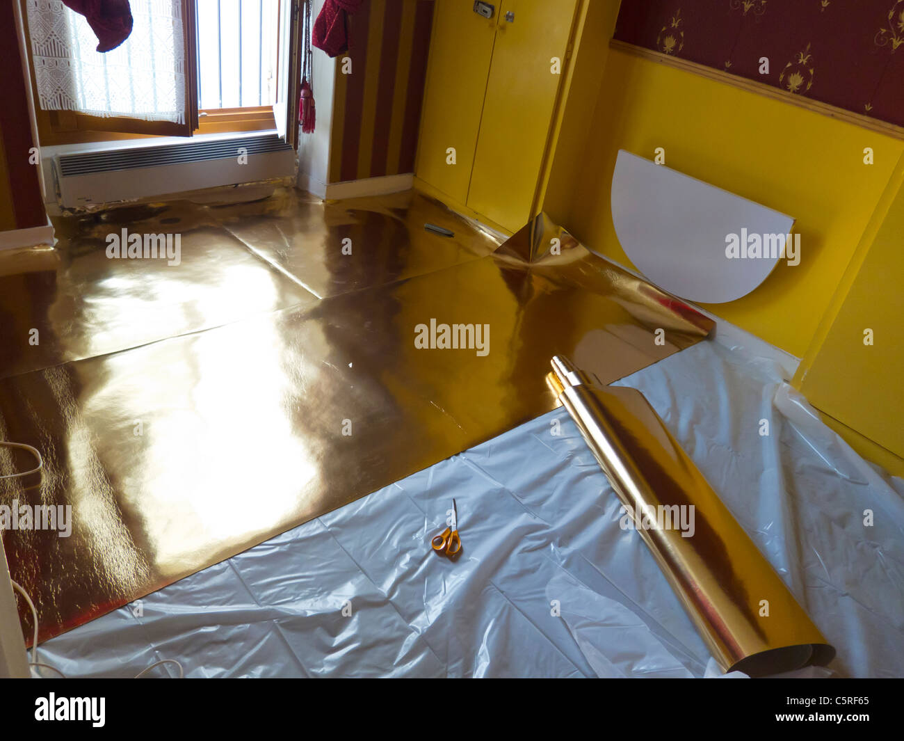 Insulation under floor work site room inside interior stock photos do it yourself wooden flooring installation at home with insulation on floor solutioingenieria Choice Image