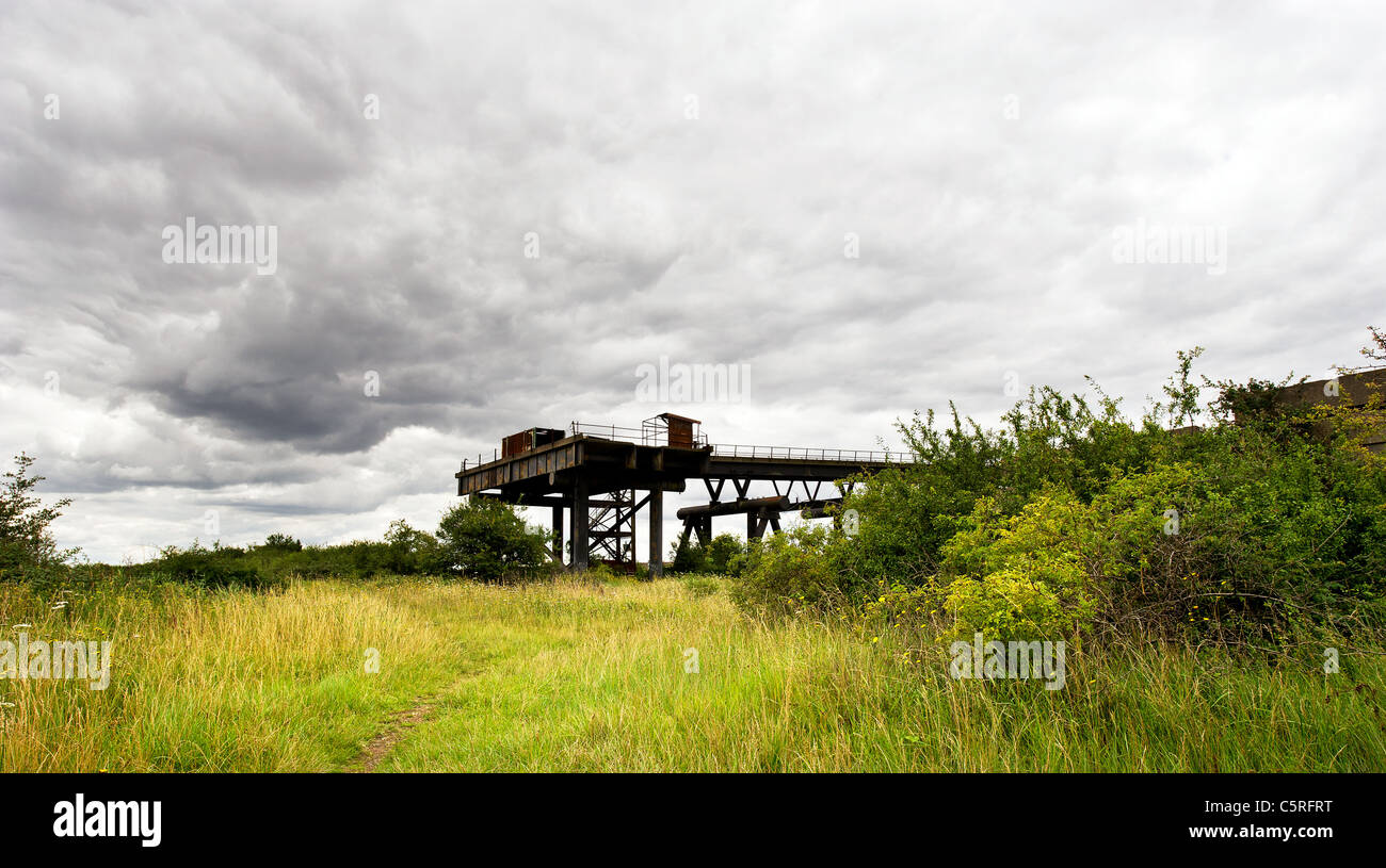 The remains of the Occidental Petroleum Jetty on Canvey Island in Essex.Stock Photo