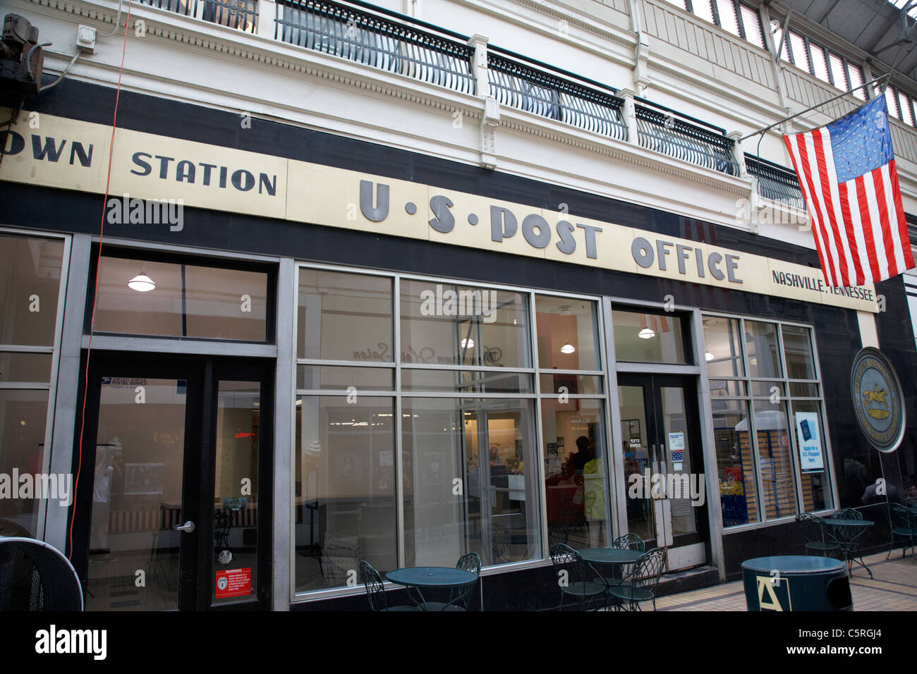 us post office in the arcade Nashville Tennessee USA - Stock Image