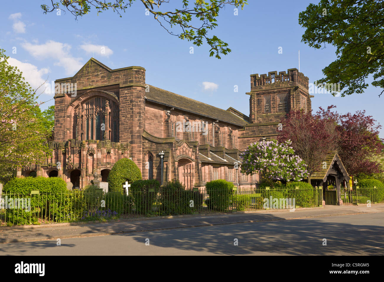 Christ Church, Port Sunlight, Wirral, England - Stock Image