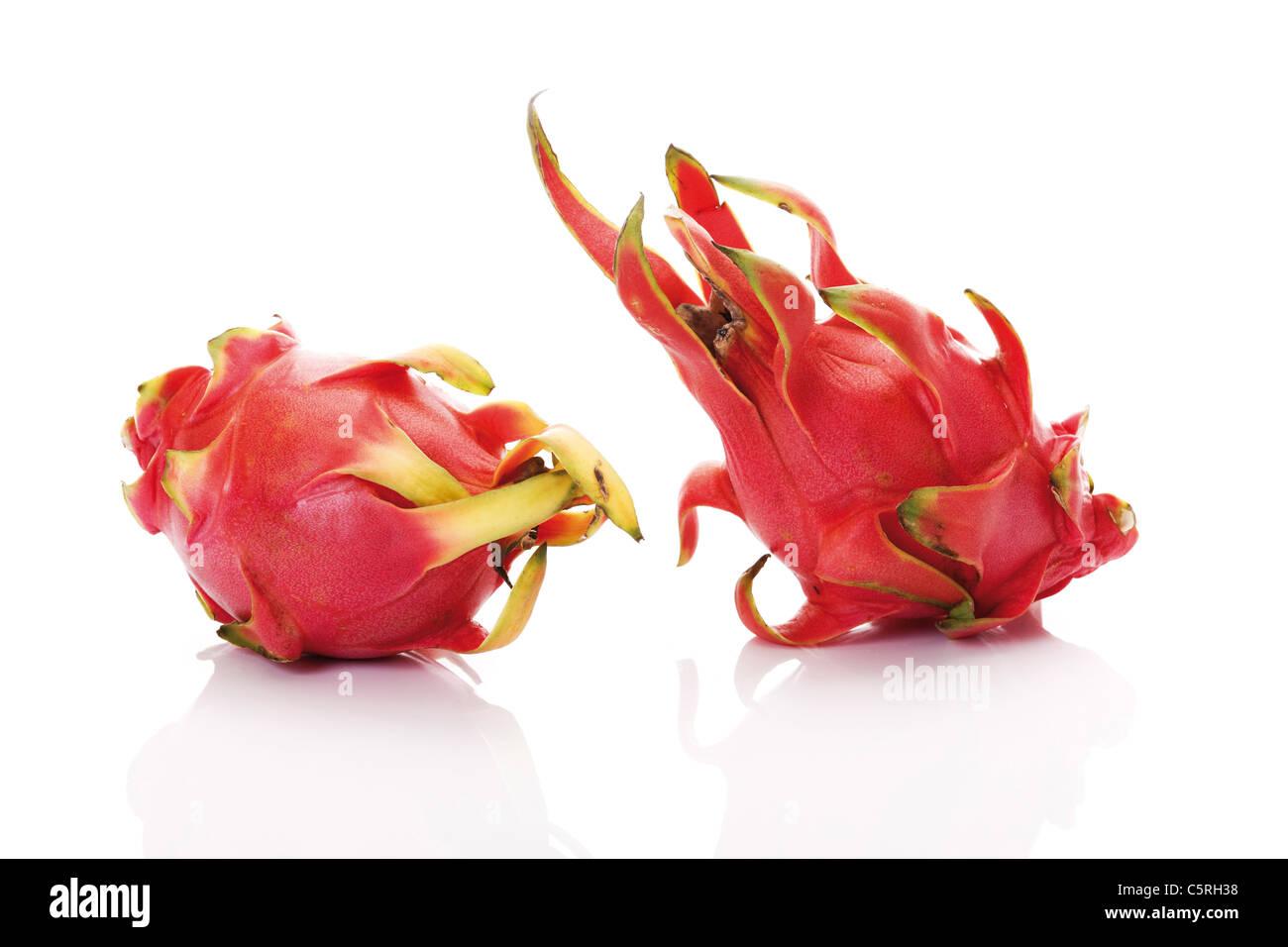 Dragon fruits (Hylocereus undatus) - Stock Image