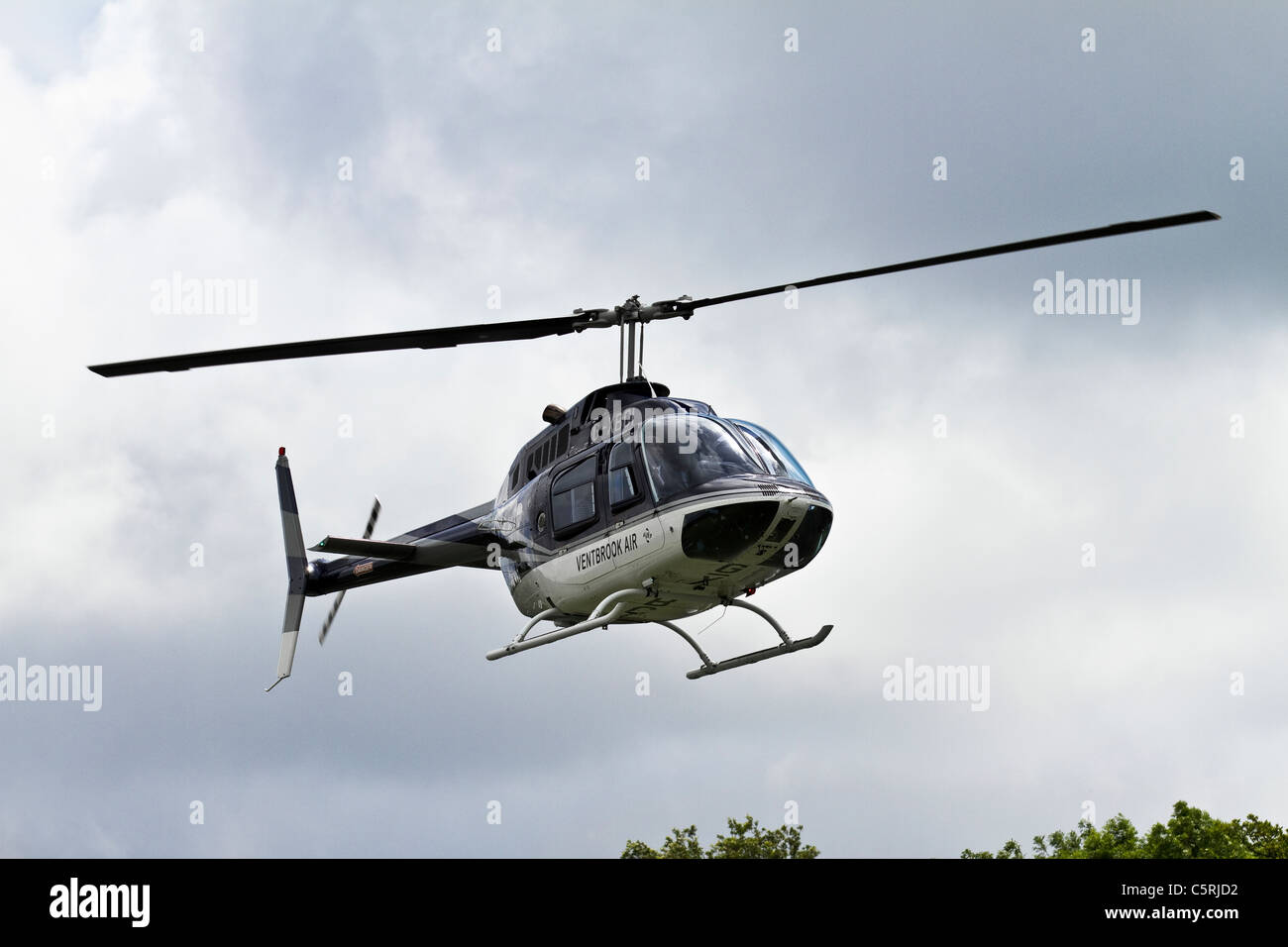 Ventbrook Air_Helicopter Pleasure Cruises at Preston Gala, Lancashire, UK - Stock Image