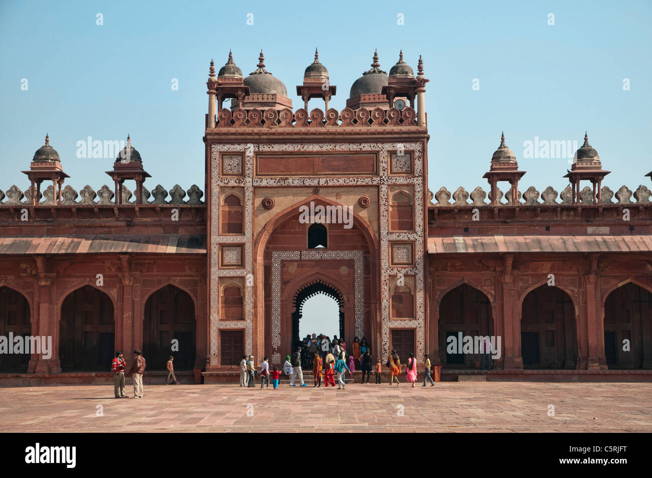 The Jama Masjid, in the city of Fatehpur Sikri constructed by Mughal emperor Akbar Stock Photo