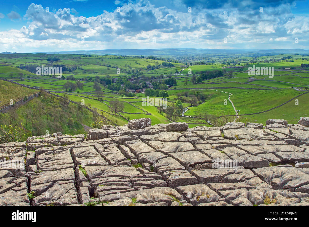 malham cove pavement - Stock Image