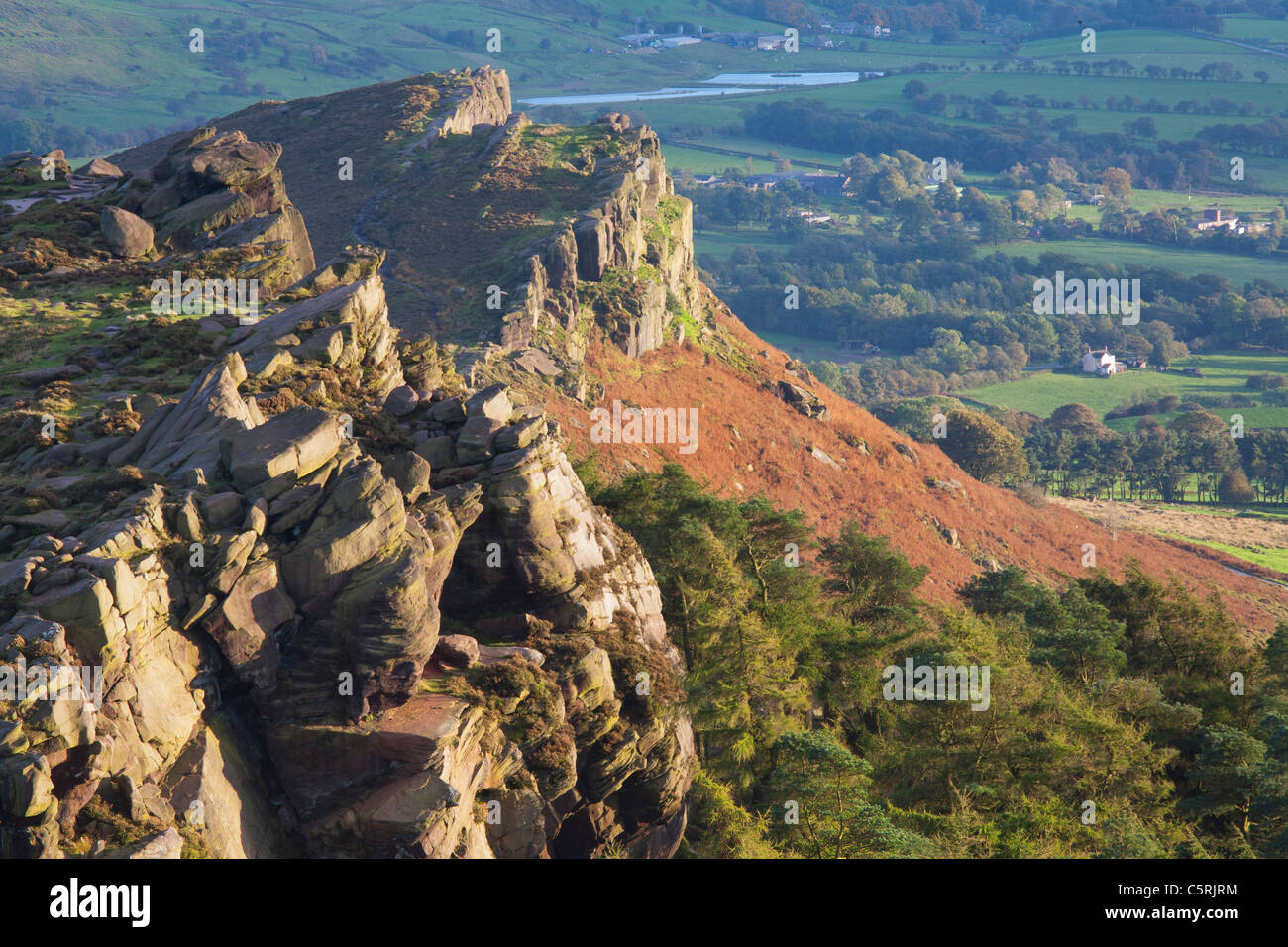 The Roaches, Staffordshire Moorlands, Peak District, England UK - Stock Image