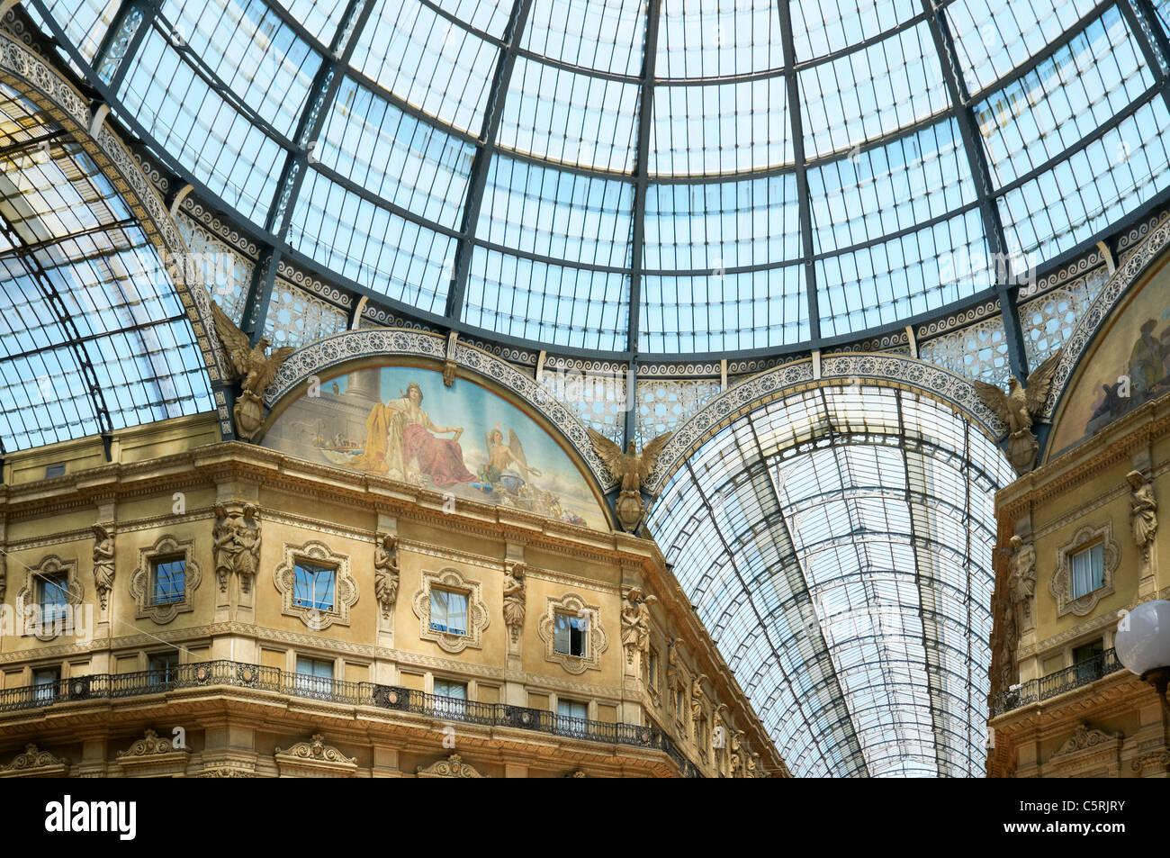 The Galleria Vittorio Emanuele II, Milan, Italy - Stock Image