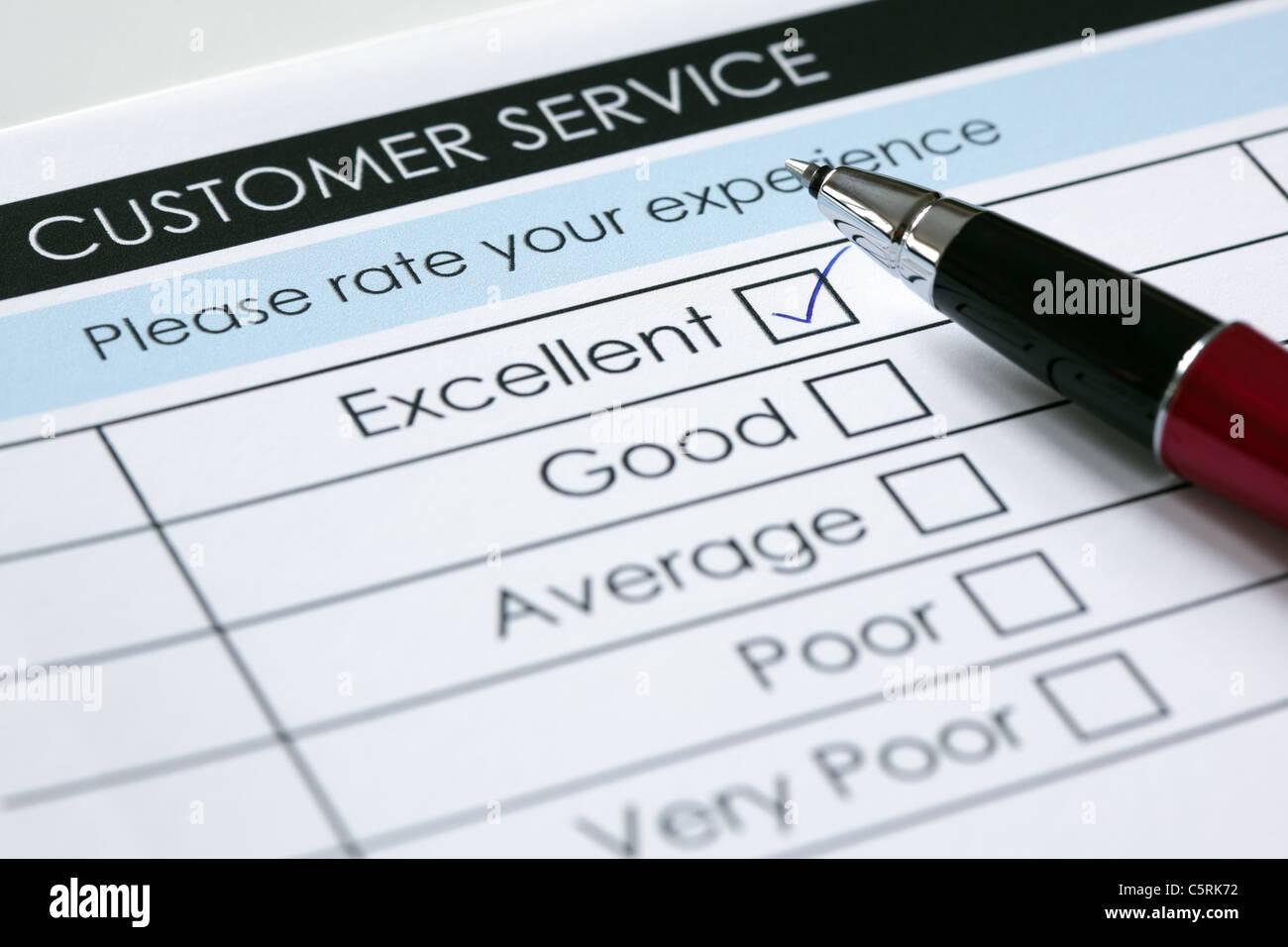 Customer service satisfaction survey - Stock Image