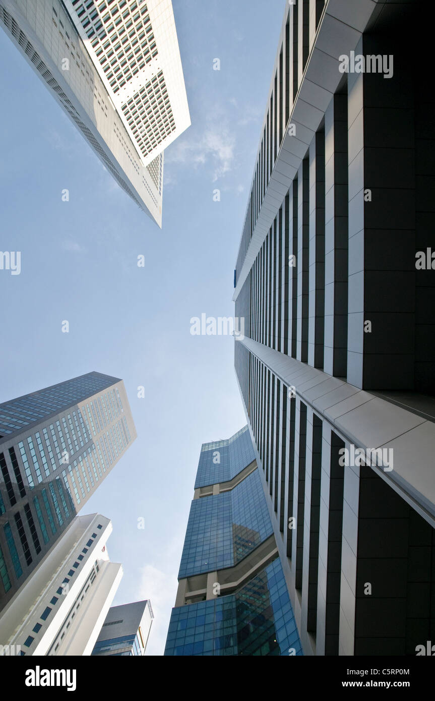 Skyscrapers of financial district, central business district, Singapore, Southeast Asia, Asia - Stock Image