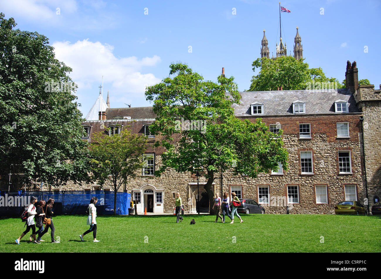 Dean's Yard, Westminster Abbey, Westminster, City of Westminster, London, Greater London, England, United Kingdom - Stock Image