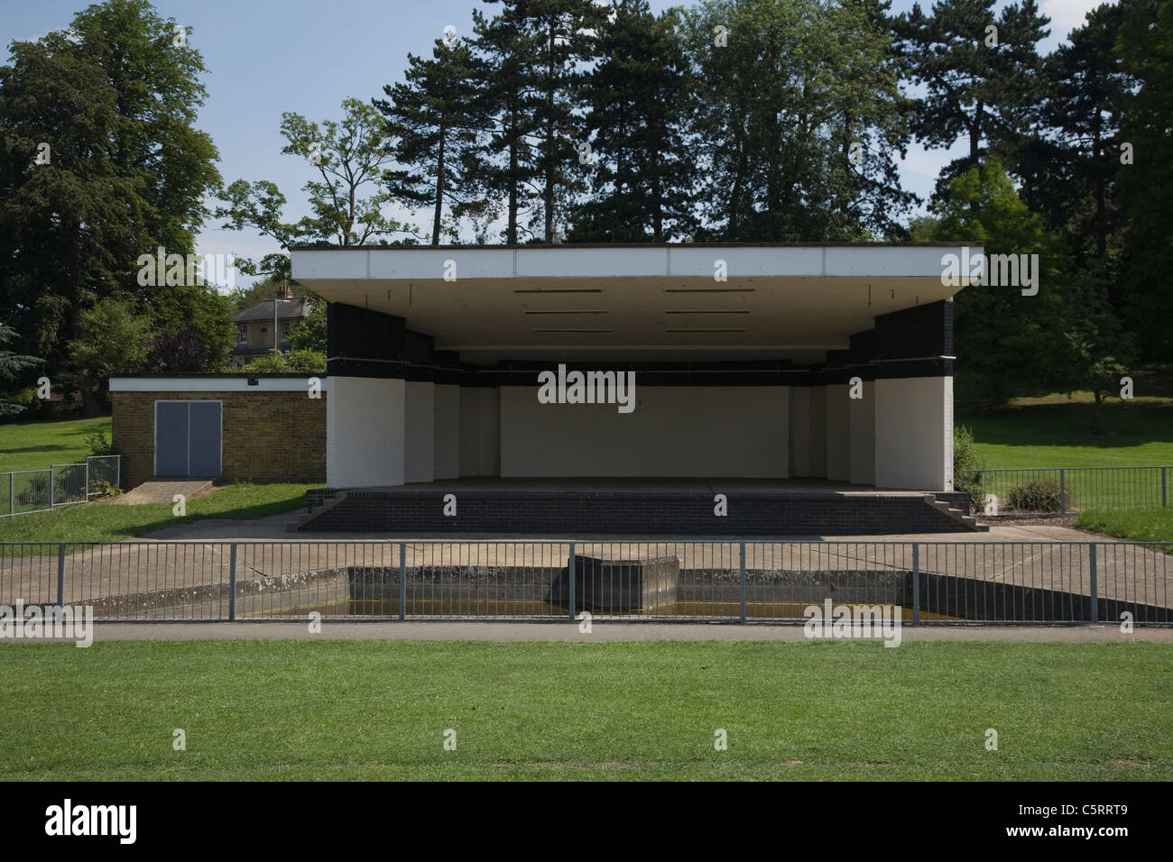 empty park bandstand - Stock Image