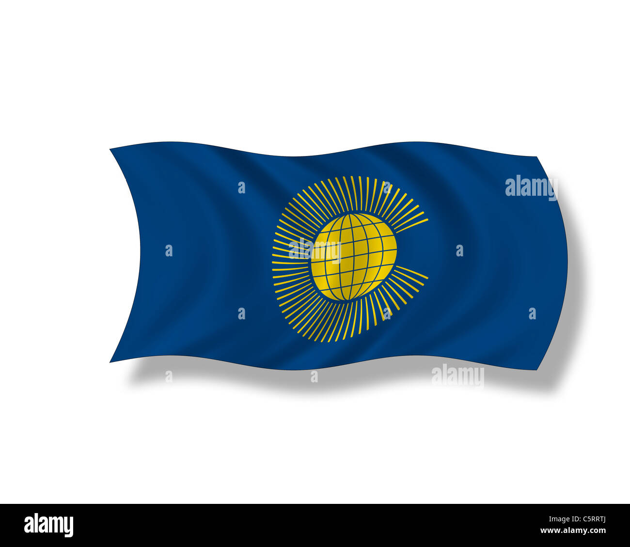 Illustration, Flag of the Commonwealth of Nations - Stock Image