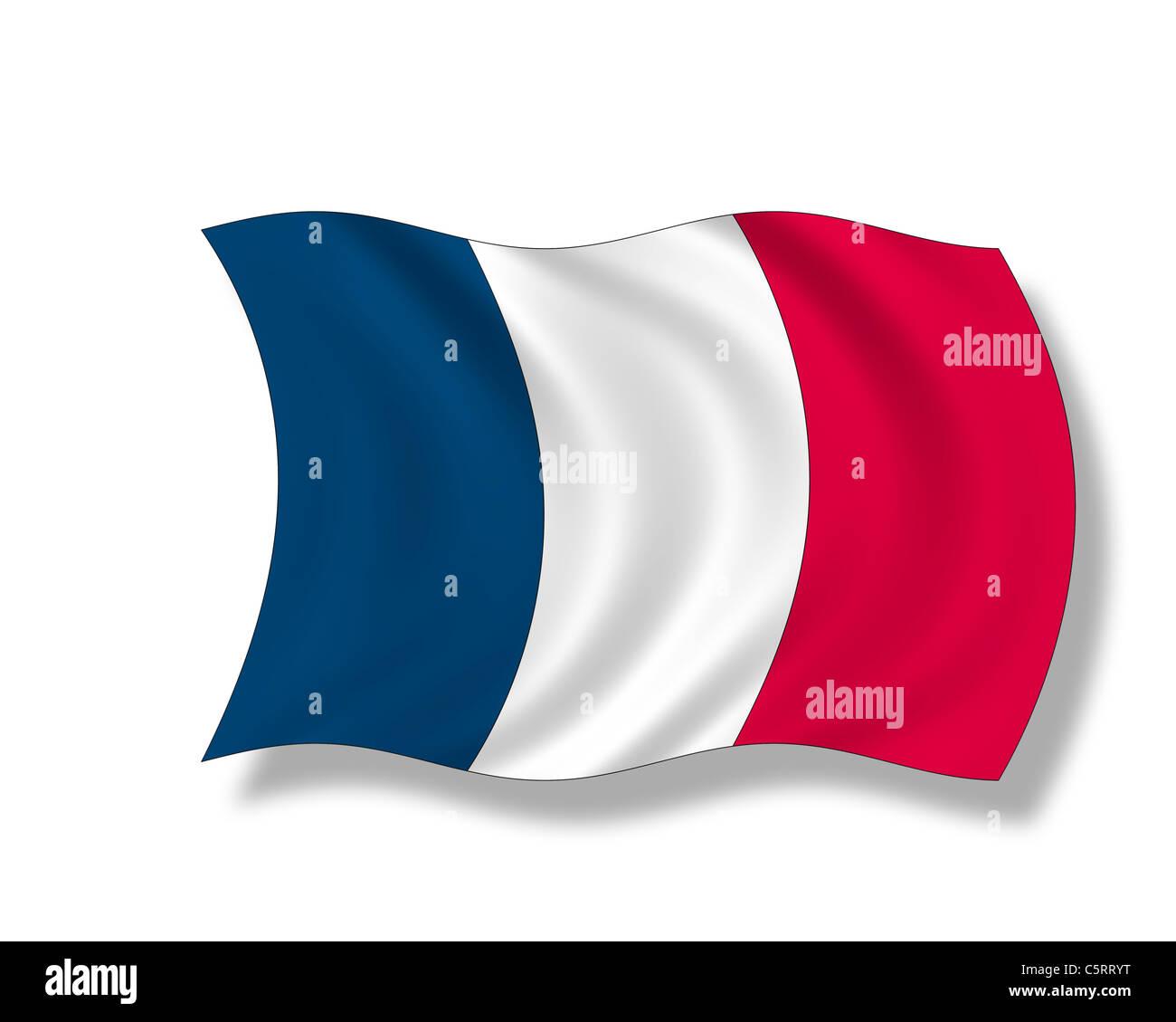 Illustration, Flag of France - Stock Image