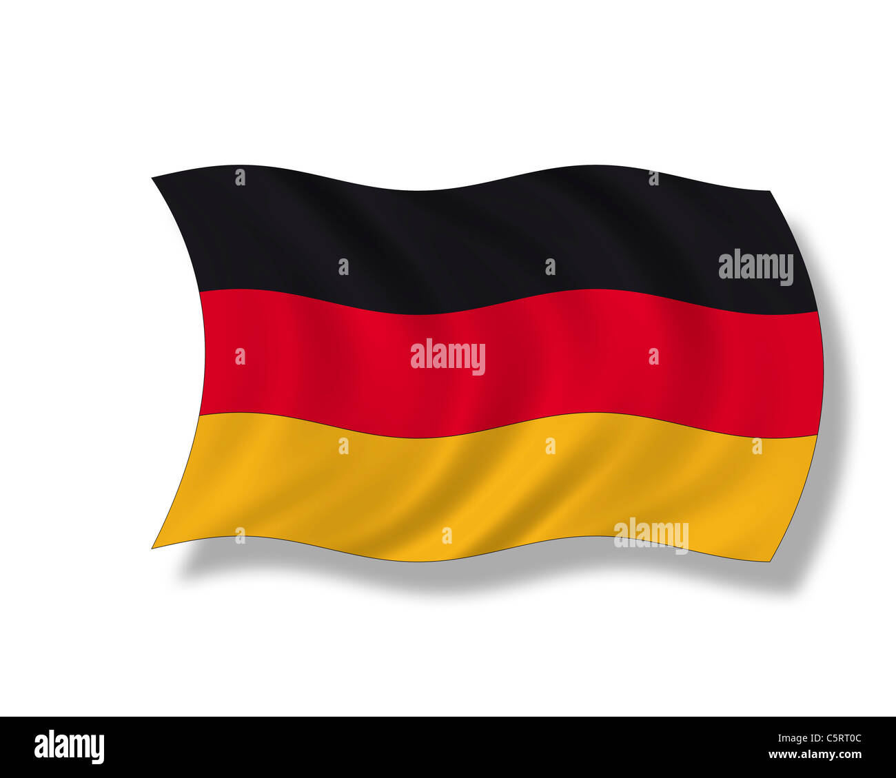 Illustration, German flag - Stock Image